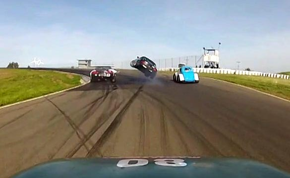 [VIDEO] Mazda Crashes Into the Back of a Corvette at Thunderhill Raceway