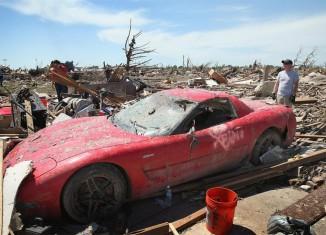 "[PIC] 2002 Corvette Z06 is a True ""Survivor Corvette"" Following Oklahoma Tornado"