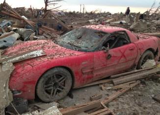 [VIDEO] Shane Steelman's Corvette Z06 After the Moore, OK Tornado