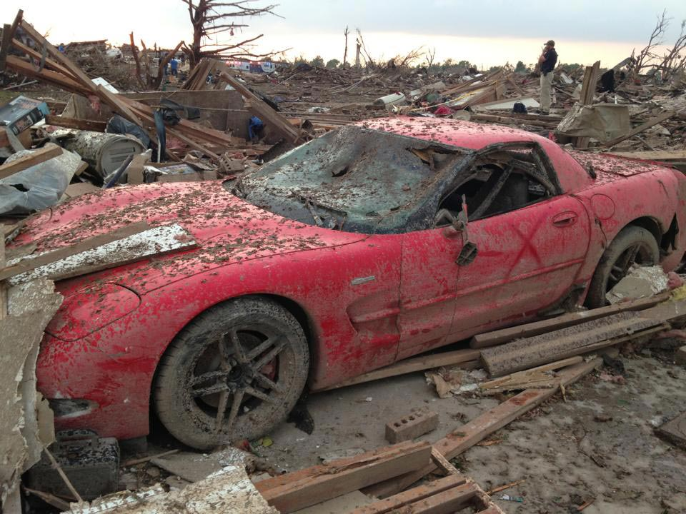 [VIDEO] Shane Steelman's Corvette Z06 After the Moore, OK Tornado