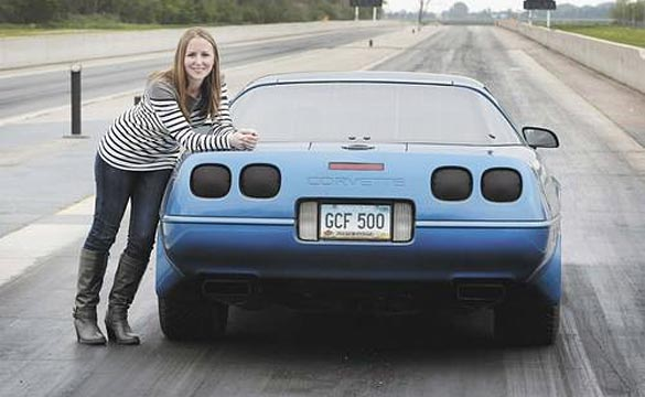 North Dakota Woman Enjoying Life in the Fast Lane in Her C4 Corvette