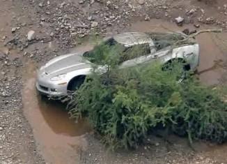 [VIDEO] C6 Corvette Caught in Arizona's Flash Flood