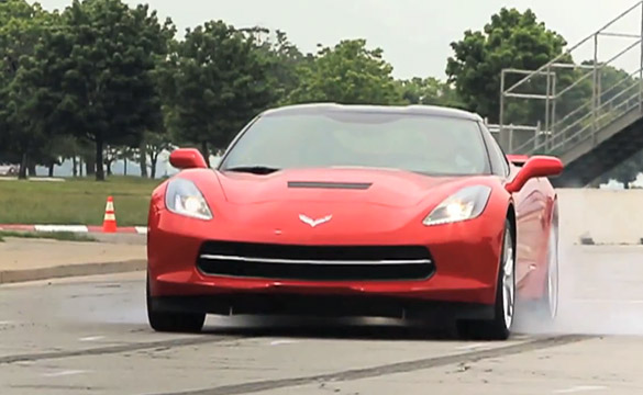 [VIDEO] Car and Driver Does First Burnout in the 2014 Corvette Stingray