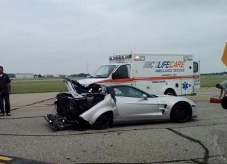 [ACCIDENT] Corvette ZR1 Crashes After Celebratory Burnout at the Michigan Mile