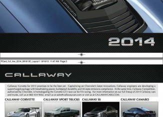 Callaway Cars Shows Off New Hood Design for the 2014 Callaway Corvette Stingray