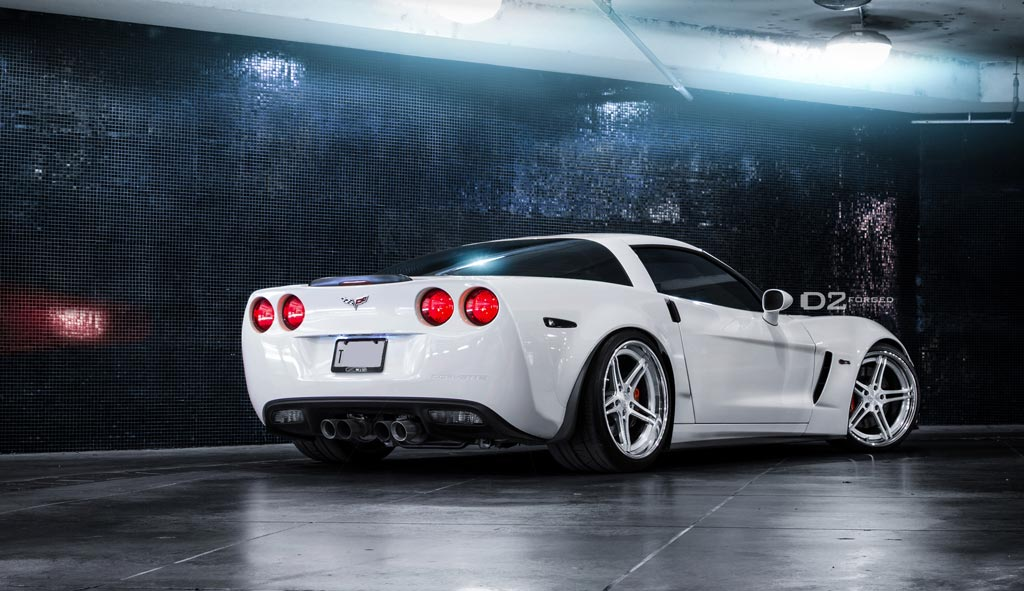 [PICS] Arctic White Corvette Z06 on D2FORGED CV3-LP Lightweight Wheels