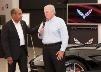 Rick Hendrick Picks Up First Production 2014 Corvette Stingray