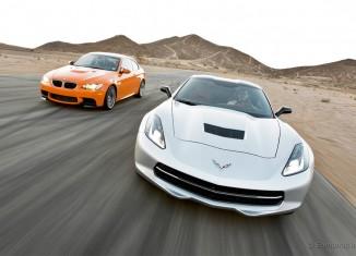 Edmunds Tests the C7 Corvette Stingray vs 2013 BMW M3 Coupe