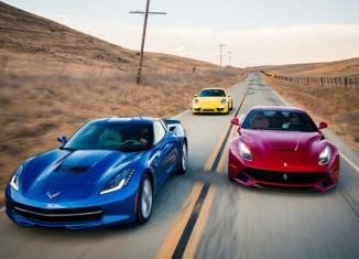 [VIDEO] Motor Trend's Epic Comparison of the Corvette Stingray, Porsche 911 Carrera 4S and the Ferrari F12