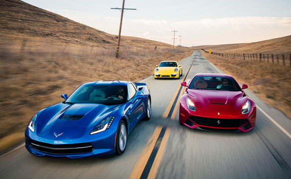 [VIDEO] Motor Trend's Epic Comparison of the Corvette Stingray, Porsche 911 Carrera 4S and the Ferrari F12