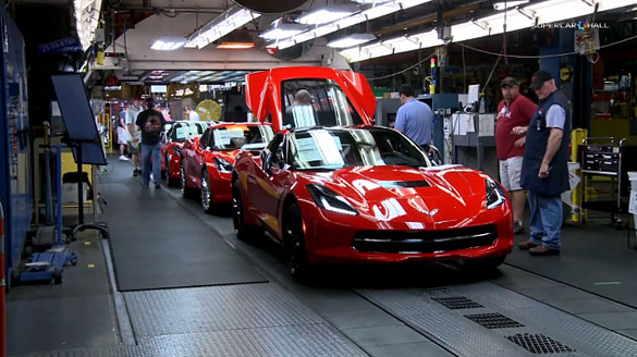 [VIDEO] Watch the 2014 Corvette Stingrays Get Built in Bowling Green