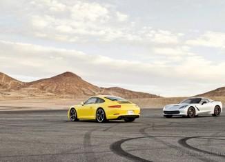 Edmunds Track Tests the 2014 Corvette Stingray vs the 2013 Porsche 911