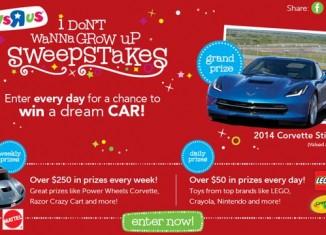 Win a 2014 Corvette Stingray or a Power Wheels Corvette Stingray
