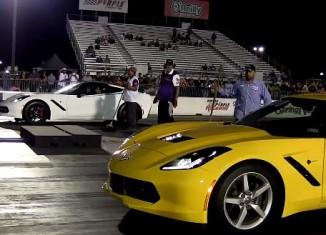 [VIDEO] Two C7 Corvette Stingrays at the Drag Strip