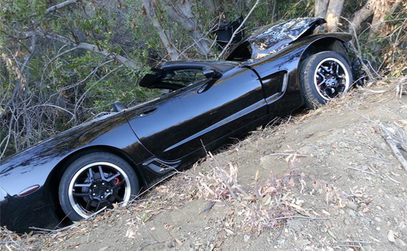 [ACCIDENT] C5 Corvette Driver Goes Off the Side of the Road in Malibu