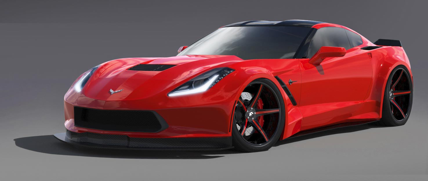 Forgiato Wheels Building a Widebody C7 Corvette Stingray for SEMA