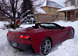 [PIC] Harlan Charles Drives a 2014 Corvette Stingray Convertible to Work