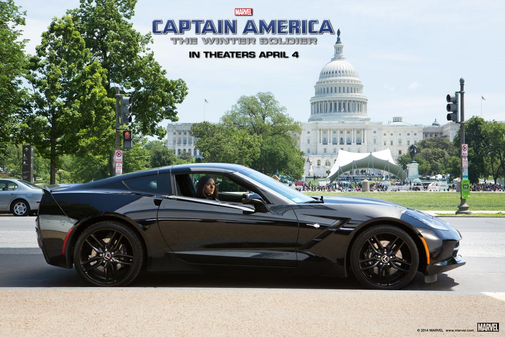 C7 Corvette Stingray from Captain America: The Winter Soldier on Display at the Chicago Auto Show