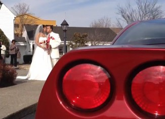 """Tennessee Couple Say """"I Do"""" at Corvette-Themed Wedding"""