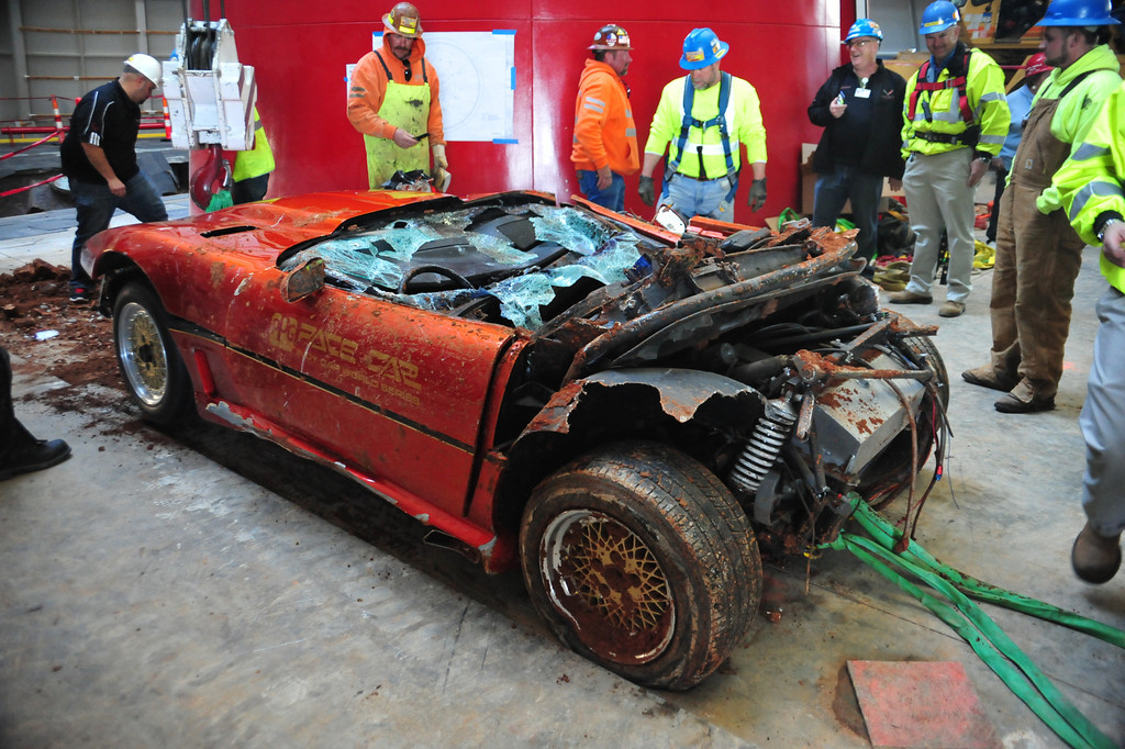[VIDEO] Watch the Rescue of the 1984 Corvette PPG Pace Car from the Corvette Museum Sinkhole