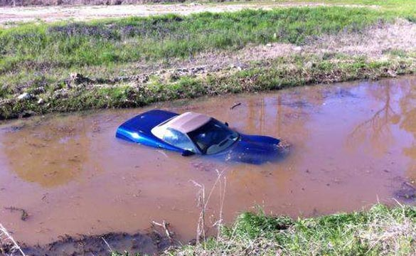 [ACCIDENT] Mississippi Man Cannonballs His C5 Corvette into a Ditch