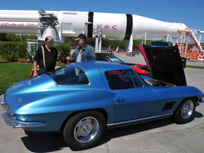 Astronaut Neil Armstrong's 1967 Corvette Displayed at the Kennedy Space Center