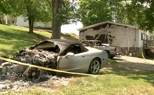 Arsonist Torches a C5 Corvette in Tennessee