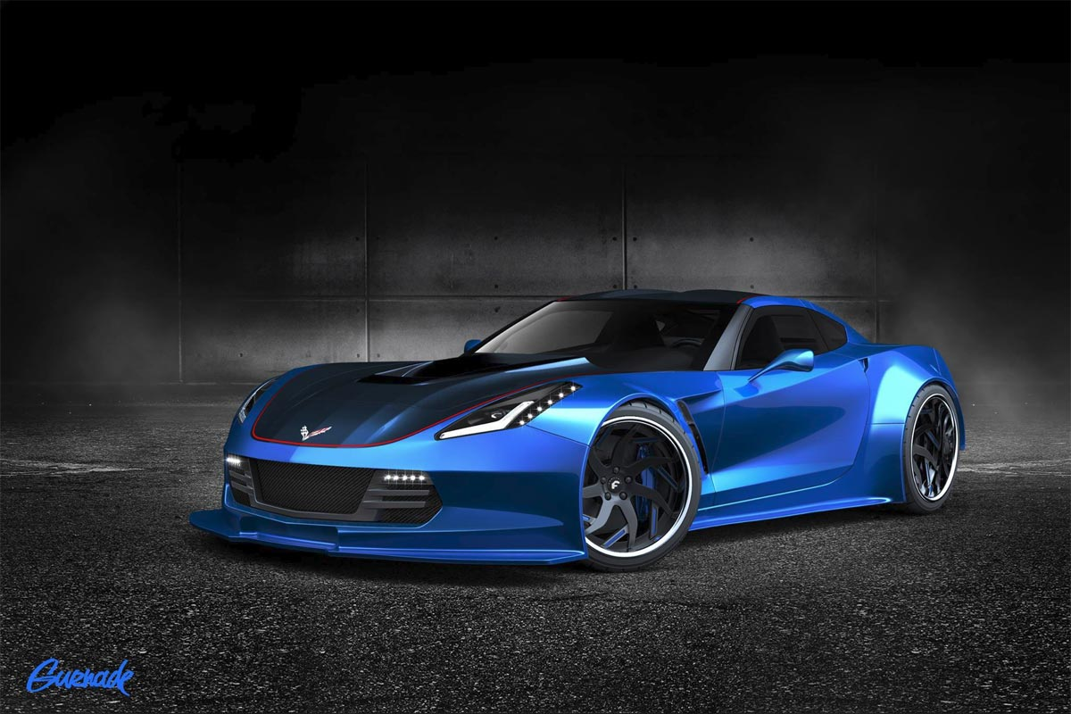 C7 Corvette Widebody Rendered for a 2014 SEMA Project