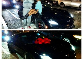 [PIC] NBA Star Carmelo Anthony Receives a Corvette Stingray for his 30th Birthday