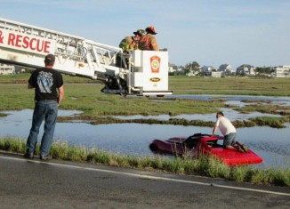 Man Arrested After Driving a Borrowed 1971 Corvette Into a Saltwater Marsh