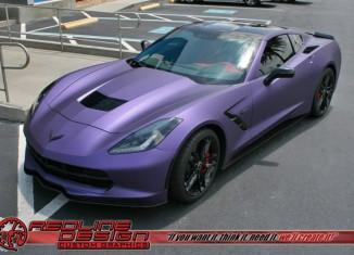 [PICS] Corvette Stingray Gets a Matte Purple Metallic Wrap