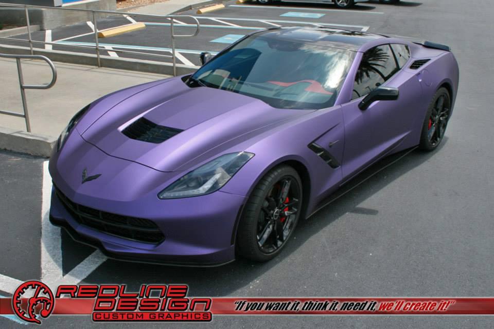Pics Corvette Stingray Gets A Matte Purple Metallic Wrap