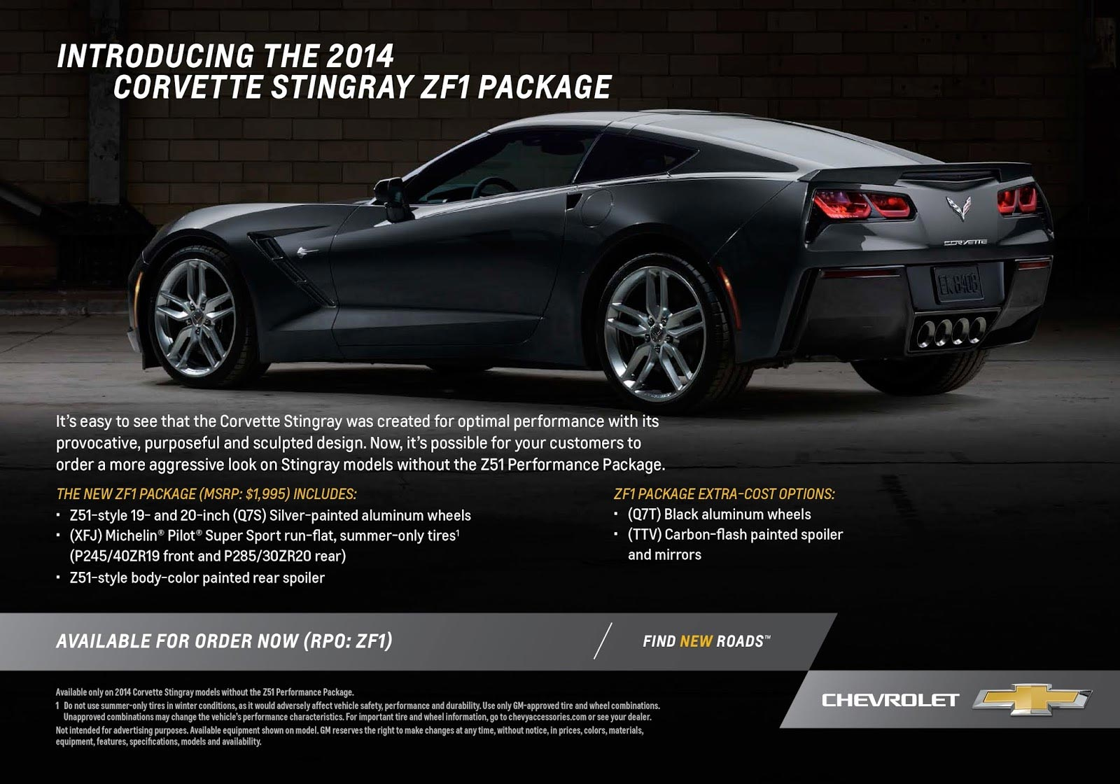 Get the ZF1 Appearance Package on a 2014 Corvette Stingray