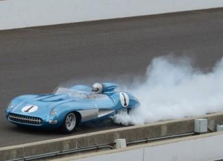 1957 Corvette SS Encounters Smoke at Indy's Brickyard Invitational