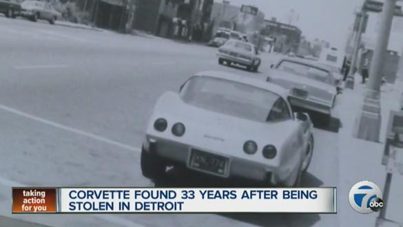 1979 Corvette Stolen 33 Years Ago Has Been Found