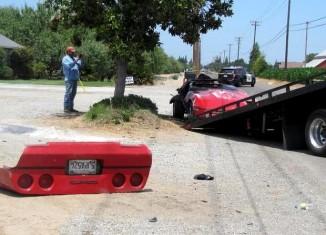 [ACCIDENT] California Man Crashes and Rolls His C4 Corvette