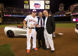Chevrolet Awards a Corvette Stingray Convertible to Baseball's All Star MVP Mike Trout