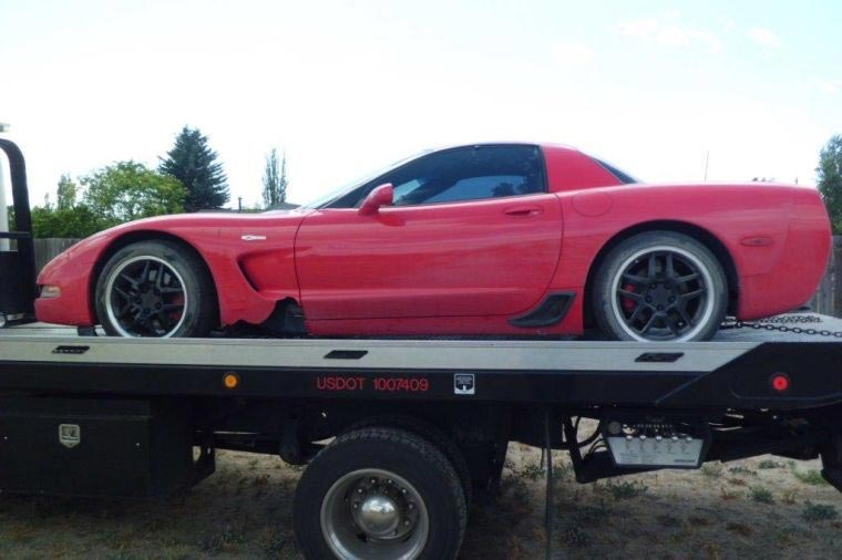 Police Recover Stolen 2003 Corvette Z06 after High Speed Pursuit Ends in Crash