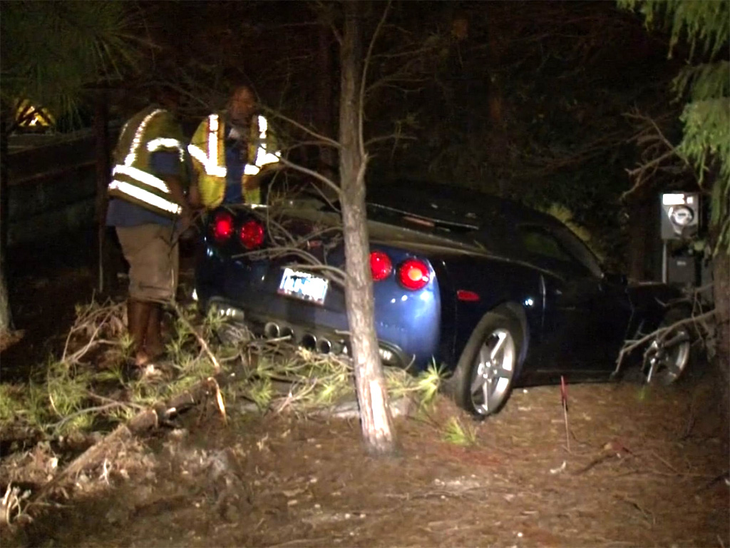 [ACCIDENT] C6 Corvette Gets Into the Trees in Houston
