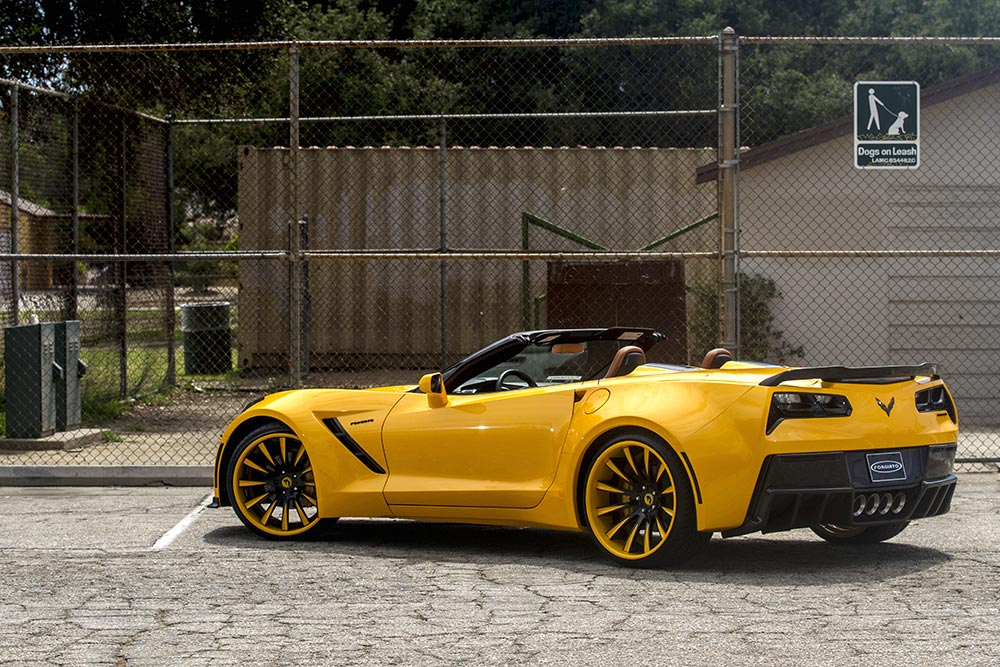 [PICS] Forgiato Widebody Corvette Stingray Convertible in Yellow