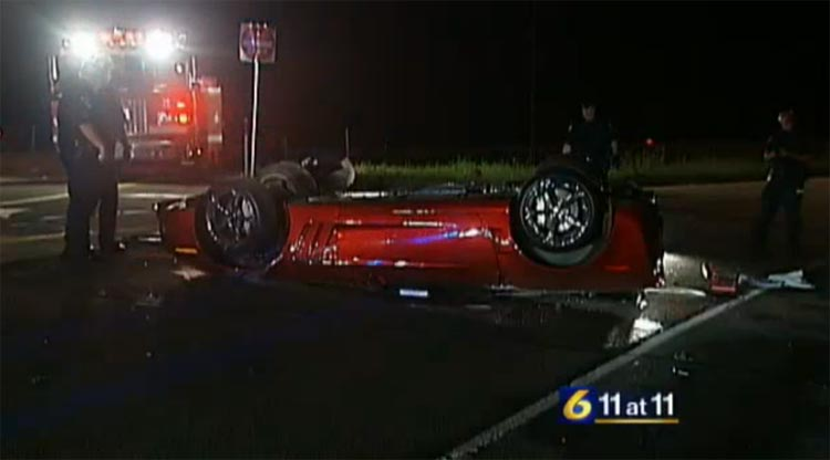 [ACCIDENT] C6 Corvette Grand Sport Flips After Crash in Pennsylvania