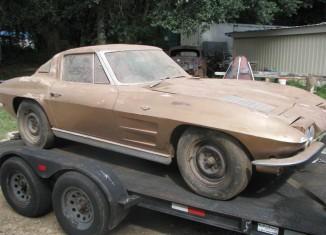 Barn Find 1963 Corvette Split-Window Coupe Stored for 41 Years Sells on eBay