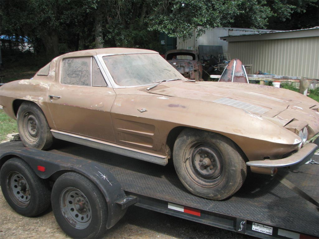 Barn Find 1963 Corvette Split-Window Coupe Stored for 41 Years Sells on eBay