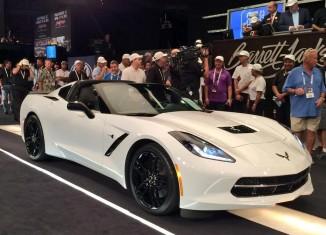 2015 Corvette Stingray with VIN 001 Raises $400,000 for Charity at Barrett-Jackson