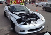 [ACCIDENT] Z06 Corvette Severely Damaged after Rear Ending a SUV in Sioux Falls