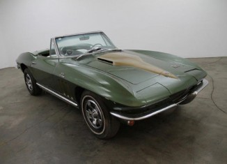 Corvettes on eBay: Barn Find 1966 Corvette Big Block Convertible