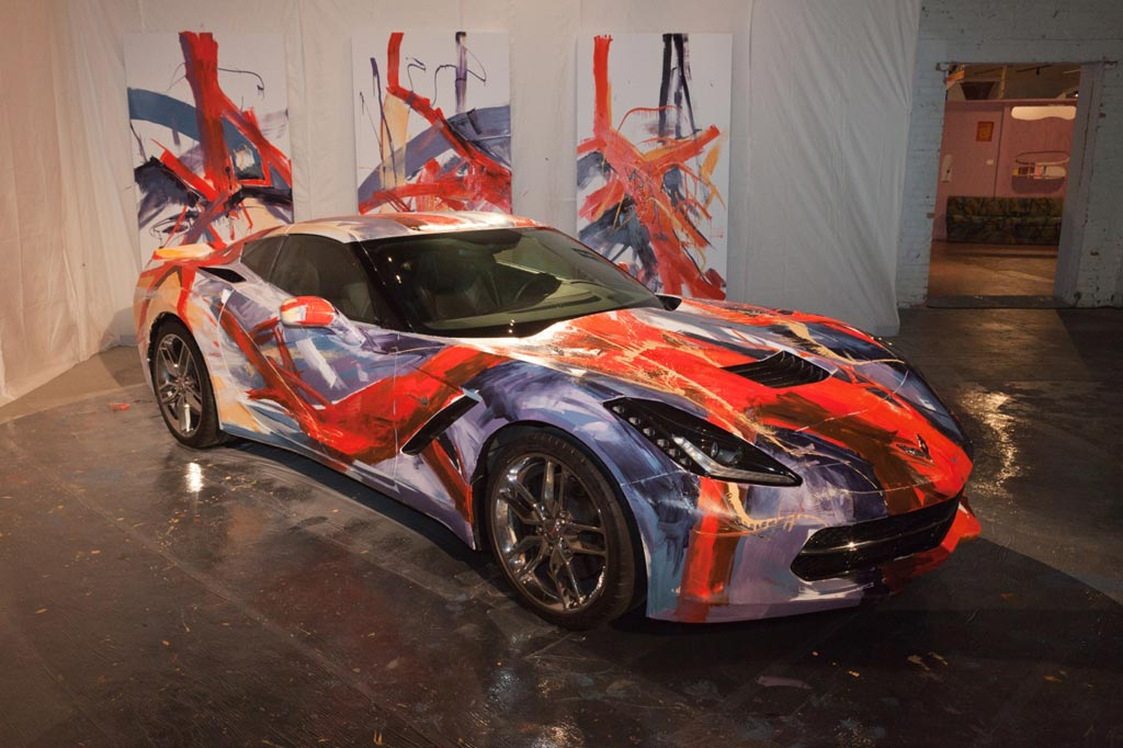 [PICS] Corvette Stingray Painted for Detroit Art Museum Fundraiser