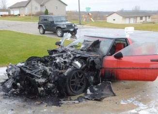 Fire Claims a C4 Corvette in Minnesota