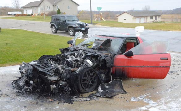 Fire Claims a C4 Corvette in Minnesota