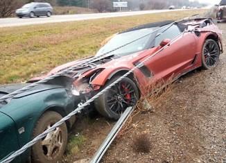 [ACCIDENT] 2015 Corvette Z06 Convertible Wrecks in the Rain in Michigan